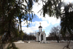 Stone chapel, orthodox church, Russia Vologda Royalty Free Stock Image