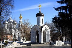Stone chapel, orthodox church, Russia Royalty Free Stock Images