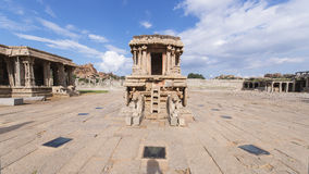 Stone chariot. Chariot in the vittalla temple in hampi. hampi - royalty free stock images