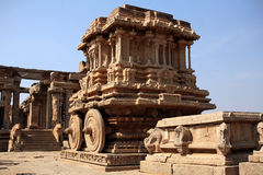 Stone chariot of Hampi Royalty Free Stock Photo