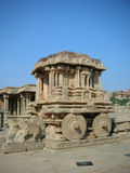 Stone Chariot in Hampi. The famous stone chariot at Hampi, an UNESCO world heritage site in India Royalty Free Stock Photo