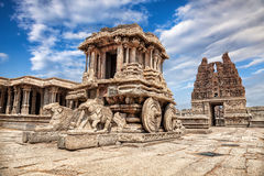 Stone chariot in Hampi Royalty Free Stock Image