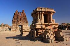 Stone Chariot in Hampi, India. Stock Photos