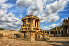 Stone chariot in a temple of Southern India Stock Photography