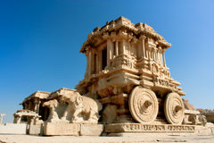 Stone chariot in the Vittala temple in Hampi Royalty Free Stock Photo