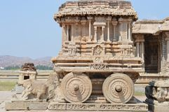 Stone chariot at Vittala temple, Hampi royalty free stock images