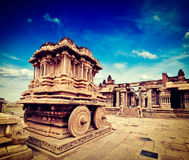 Stone chariot in Vittala temple,  Hampi Stock Photography