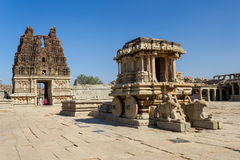 Stone Chariot in the Vittalla temple in Hampi Royalty Free Stock Photo