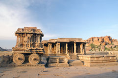 The stone chariot at Vitthala temple Royalty Free Stock Photos