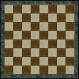 Stone chess board. With gold incrustation Stock Image