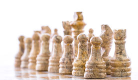 Stone Chess Pieces II Royalty Free Stock Photo