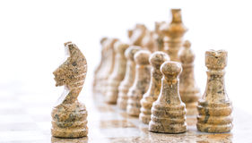 Stone Chess Pieces V Stock Photo
