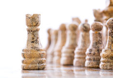 Stone Chess Pieces VI Stock Image