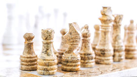 Stone Chess Pieces VII Stock Photos