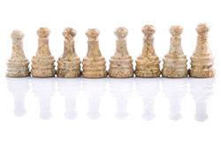 Stone Chess Pieces XIV Stock Photography