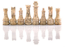 Stone Chess Pieces XV Royalty Free Stock Image