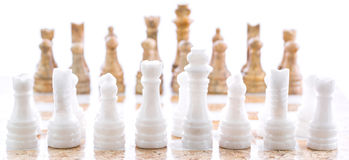 Stone Chess Set IV Stock Photo