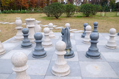 Stone chess Stock Photo
