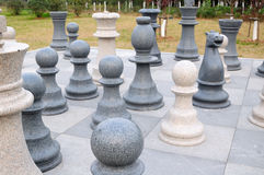 Stone chess Royalty Free Stock Image