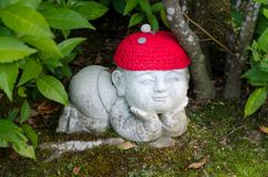 Stone child in Daisho in Temple. Miyajima Japan royalty free stock images