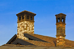 Stone Chimneys Stock Photos