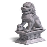 Stone chinese foo dog Royalty Free Stock Photography