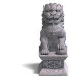 Stone chinese foo dog Stock Images