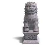 Stone chinese foo dog Stock Image