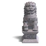 Stone chinese foo dog stock illustration