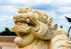 Stone Chinese Lion Statue Royalty Free Stock Photo
