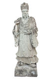 Stone Chinese Nobleman in the Temple Stock Image