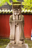 Stone chinese secretary statue Stock Photo