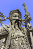 Stone Chinese soldier statue Royalty Free Stock Photography