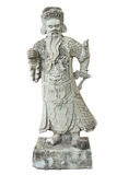 Stone Chinese warrior in the Temple Stock Images