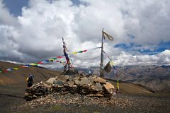 Stone Chorten at the Shey La Pass Royalty Free Stock Images