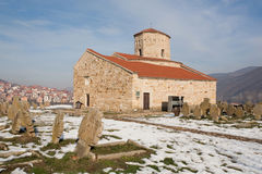 Stone Church with ancient tombs Stock Image