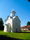Stone church. On a background of blue sky Stock Photo