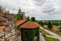 Stone church at Belgrade fortress Stock Photos