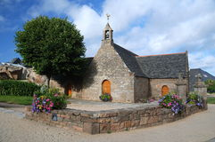 Stone church in Brittany. Old stone church in village Tregastel ,Brittany, France Stock Photo