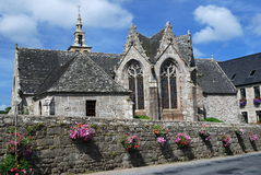 Stone church in Brittany. Old stone church in village Ploulec´h ,Brittany, France Stock Images