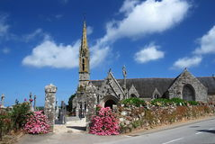Stone church in Brittany Stock Photography