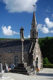 Stone church and calvary in Brittany, France Stock Photography