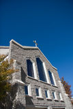 Stone church facade Royalty Free Stock Images