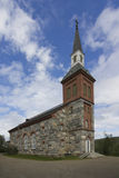 Stone church. In Finnish Lapland stock photos