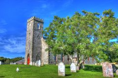 Stone Church In Harbour Grace Stock Photo