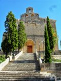Stone Church in Heart of majorca Island royalty free stock photo