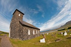 Stone church in Iceland Stock Photo