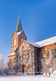 Stone church in Kuopio, Finland. Stone church at Kuopio, Finland in sunny winter day Royalty Free Stock Photos