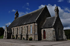 Stone church in Lairg village, Scotland Stock Photography