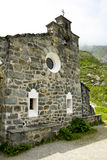 Stone church in mountains. Royalty Free Stock Photos